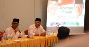 Maju Pilkada Muaraenim, Syamsul Bahri Gandeng Hanan Zulkarnain