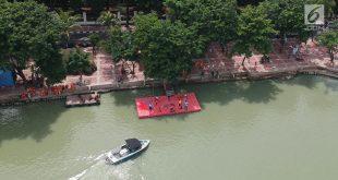 Lomba Renang Menteri Susi dan Sandiaga, Danau Sunter Dipadati Warga