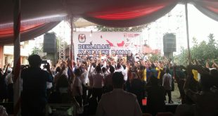 Cagub dan Cawagub Sumsel Ikuti Deklarasi Kampanye Damai
