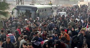 Perang Berkecamuk, Ribuan Warga Tinggalkan Ghouta Timur Suriah
