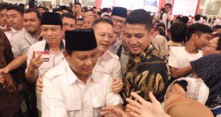 Datang ke Palembang Prabowo Digruduk Simpatisan