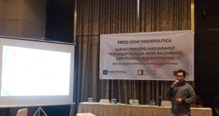 Survei IndexPolitica temukan 16 Persen Pengaruh Politik Uang di Pilkada Palembang