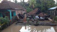 Kondisi banjir bandang di Desa UjanMas Muaraenim